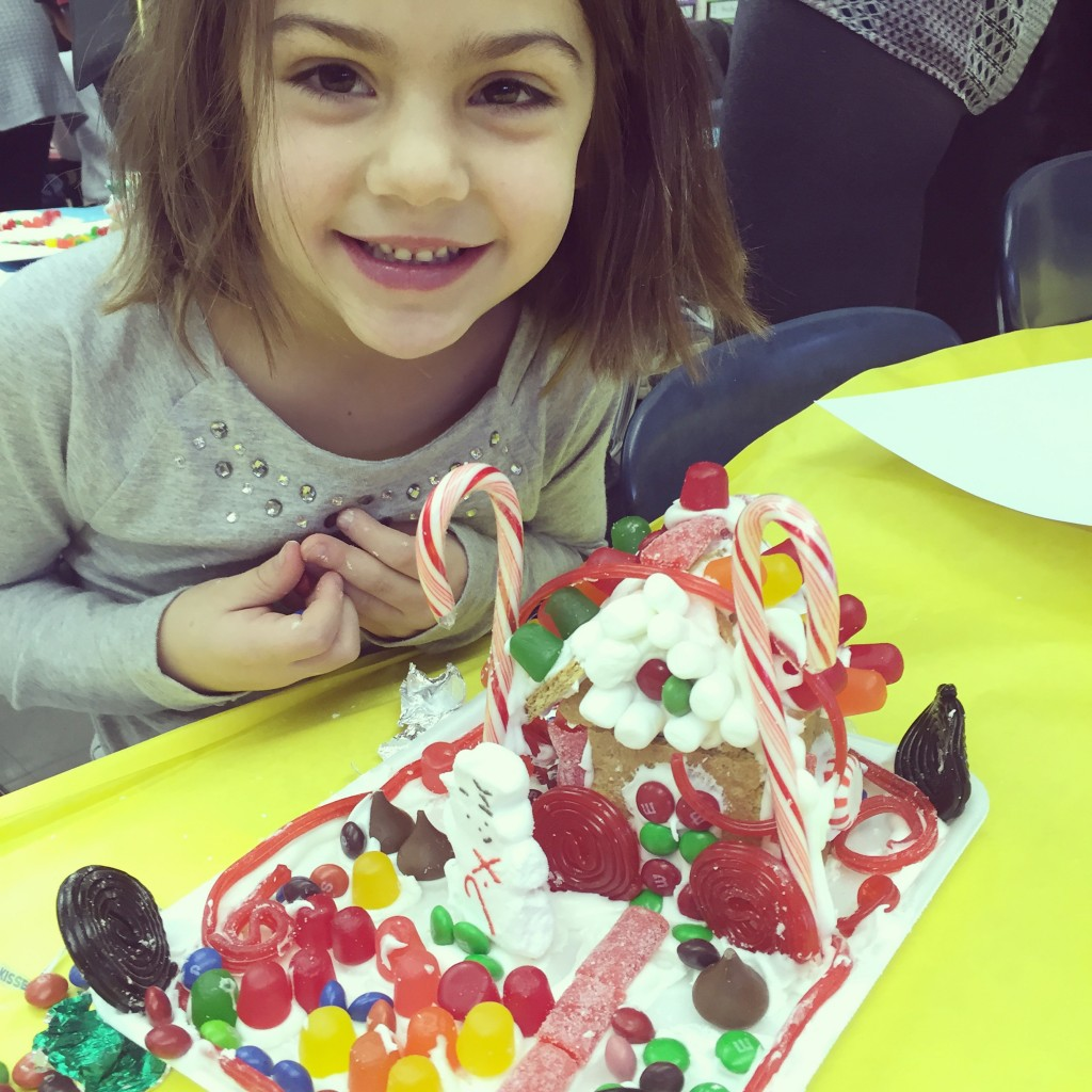 Gingerbread house making with lady's class.